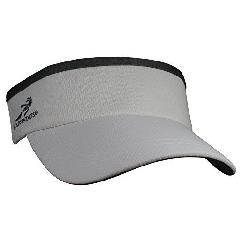 Headsweats Supervisor Sun/Race/Running/Outdoor Sports Visor, Grey, One - Visor Grey
