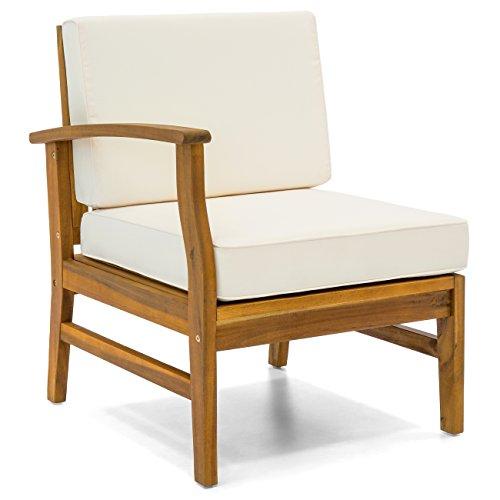 Best Acacia Wood L-Shape Sectional Sofa Set Water Cushions
