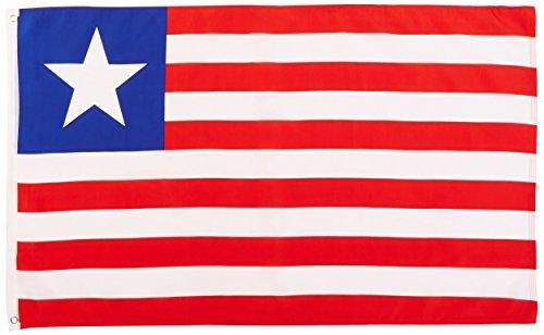 Liberia Flag 3ft x 5ft Printed Polyester