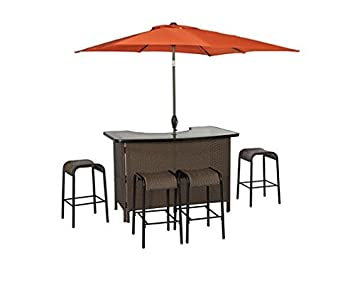 living accents corona 6 piece wicker bar set 1 outdoor patio bar rh amazon co uk living accents outdoor patio furniture living accents patio furniture covers