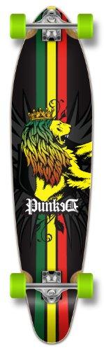 Yocaher Punked Graphic Kicktail Complete Longboard Skateboard, Rasta, 40 x 9-Inch - Kicktail Longboard Skateboard