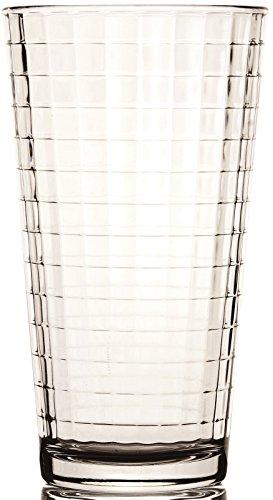 Circleware 44102 Windowpane Clear Heavy Base Drinking Glasses, 4pc Deal (Large Image)