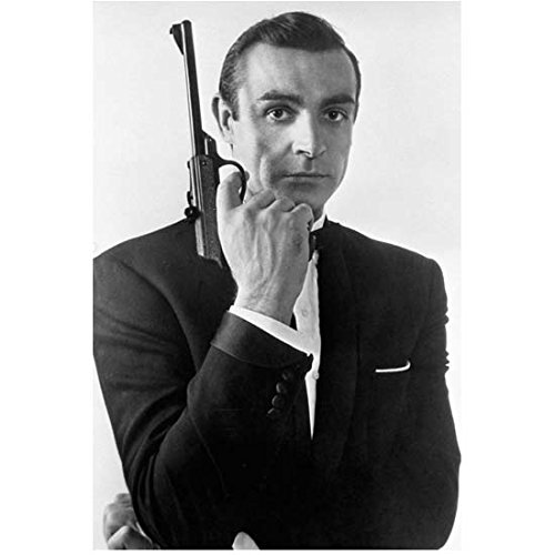 Sean Connery as James Bond Holding Gun Up in Tux 8 x 10 Inch Photo