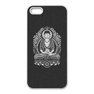 Siddhartha Buddha White Halftone iPhone 5 5s Cell Phone Case White xlb2-279712
