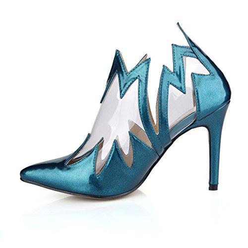 Dolphinbanana Dolphingirl Moda Mujer Talon Pointy Blue Light Chic Bombas Zapatos Prime Blue
