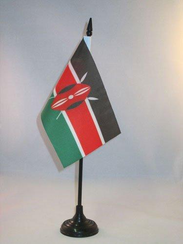 AZ FLAG Drapeau de Table Kenya 15x10cm