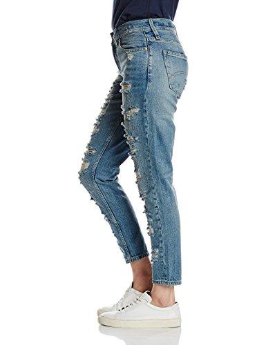 Destructed Boyfriend Da Jeans 555 Hilfiger Damen cerulian Blu eur Donna Denim qIwEx8tZE