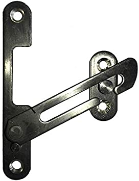 / Plata HomeSecure hs4318/ UPVC Ventana Restrictor Gancho con ni/ño Lock Restrictor Seguridad Catch/