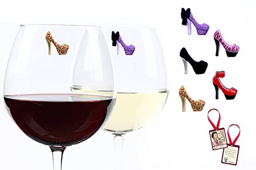 high heel wine charms - 3