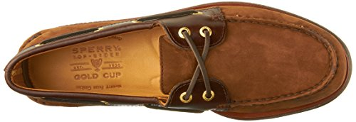 Sperry 0195 - Náuticos de cuero para hombre, color marrón, talla 44,5 Brown / Buc Brown