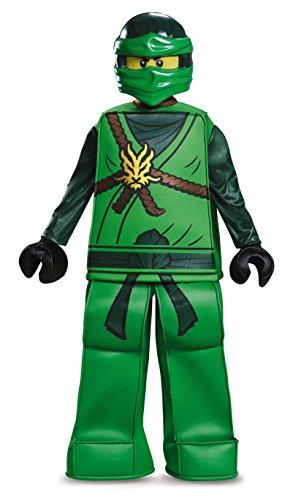 Ninjago Green Ninja Costumes Child (Lloyd Prestige Ninjago LEGO Costume, Large/10-12)