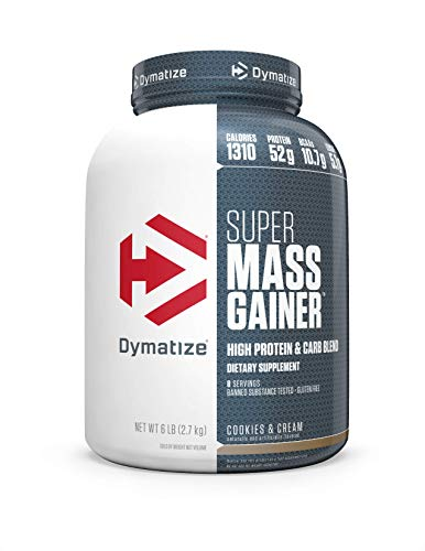 Dymatize Super Mass Gainer Protein Powder with 1280 Calories Per Serving, Gain Strength & Size Quickly, Cookies and Cream, 6 lbs