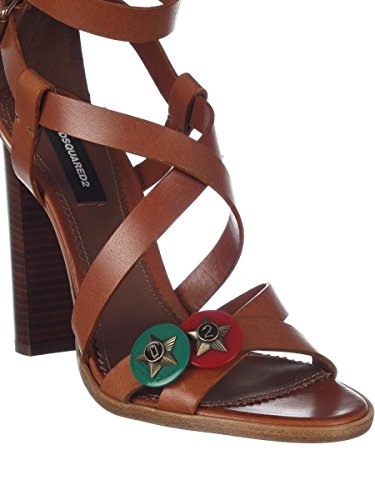 Dsquared2 Women's HSW0013129004075059 Brown Leather Sandals eastbay online outlet many kinds of cheap sale with credit card low shipping sale online w0V5Fpr