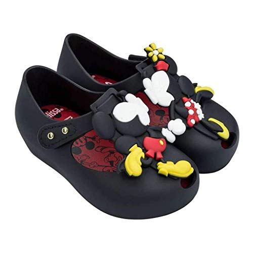 (Mini Melissa Baby Girl's Mini Ultragirl + Disney (Toddler/Little Kid) Black 9 M US Toddler M)