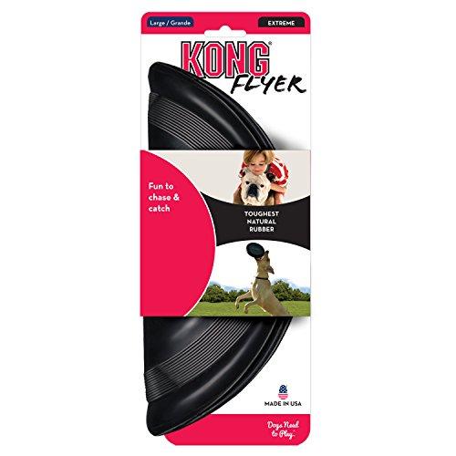 Kong Rubber Flyer, Large, Black