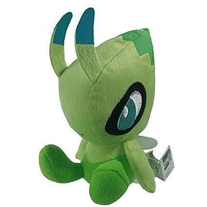 HT TOYS Pokemon Celebi Stuffed Soft Toy Pikachu Plush Doll Toy 18cm