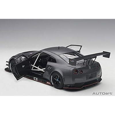 Nissan GT-R Nismo GT3 Dark Matt Grey 1/18 by Autoart 81583: Toys & Games