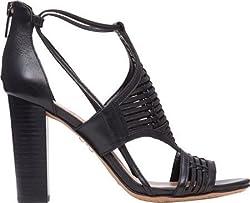 Vince Camuto Women's Ceara Sandal,Black New Vachetta,US 6.5 M