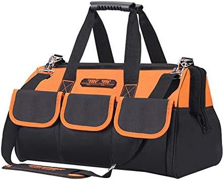 耐久性工具バッグ ヘビーマルチポケット義務ツールバッグプロフェッショナルツール収納袋オーガナイザー 工具収納&仕分け管理&運搬用 (色 : Orange, Size : 19inch)