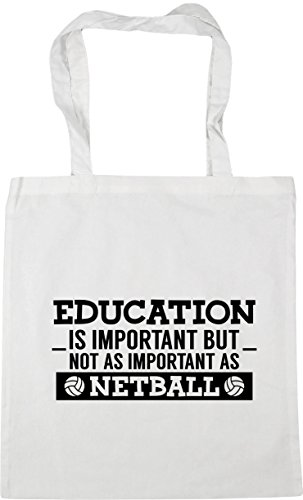 42cm Bag not but Education is x38cm 10 Beach netball HippoWarehouse Tote Shopping Gym White as litres as important important BA6RxcWy