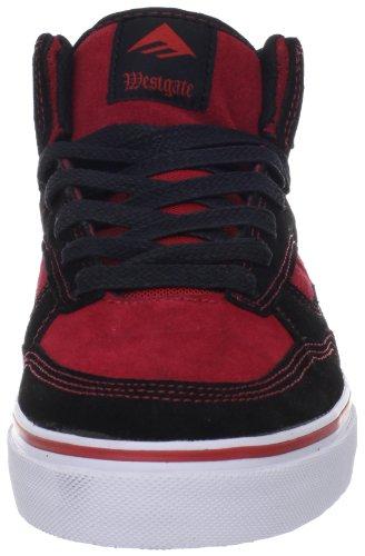 Emerica WESTGATE 6102000072 - Zapatillas de skate de ante para hombre Negro (Schwarz (black/red/white 090))