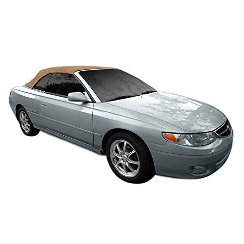 Toyota Solara Convertible Soft Top & Heated Glass Window 1999-2003 Twill (Tan) ()
