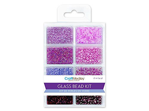 Glass Bead Kit 45grams/Pkg-Viola (Bead Medley)
