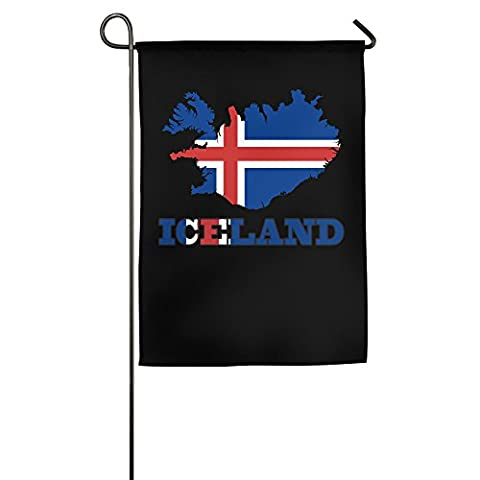 Iceland Wordart Iceland Flag Map Clipart House Flags Garden Flag (2 Size) (Reykjavik City Map)