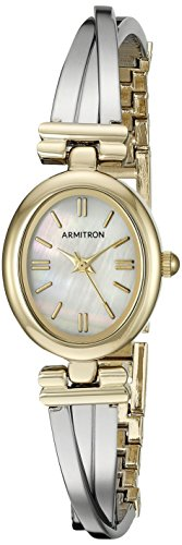Armitron Women's 75/5325MPTT Two-Tone X-Shaped Bangle Watch
