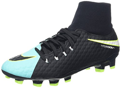 Nike New Women's Hypervenom Phelon III Dynamic Fit FG Soccer Cleat Aqua/Black - New Soccer Nike