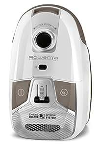 Rowenta Silence Force Compact RO6327 - Aspirador con etiqueta energética AAAA, triple filtración con bolsa de 3,5 l de capacidad, cepillo parquet con dos posiciones y ranuras, tubo telescópico, 68 dB(A)