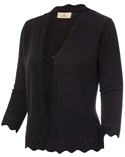 - GRACE KARIN Leisure Ladies Sweaters Buttoned Knit Coats (M, Black 781)