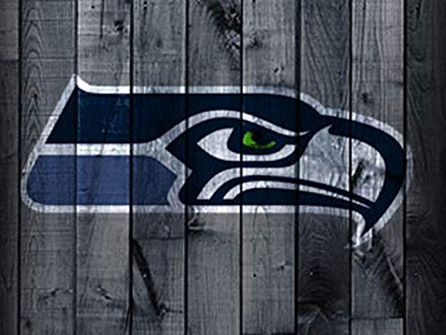 (DIY 5D Diamond Painting Kits for Adults 12x16 lnch,Seattle Seahawks Full Drill Diamond Painting Crystal Diamond Arts Crafts for Home Wall Decor,NFL Team Logo)