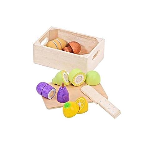 Amazon Com Mentari Play Market Cutting Food Set Model Kit Learn