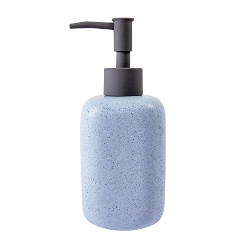 Ceramic Blanc (Neat Blanc Ceramic Liquid Soap & Lotion Dispenser Pump Kitchen Bathroom Sinks (Baby Blue))