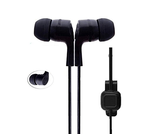 Gionee M5 Lite Compatible Original SBA Dvaio Dolby Sound Bomb Series Audio Bass In-Ear Earphone/Headphone with Mic- Black