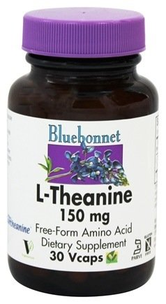 Bluebonnet Nutrition - L-Theanine 150 mg. - 30 Vegetarian - Mg 150 Capsules 30