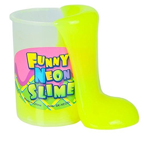 Kidsco Neon Slime Putty – A Sludgy Gooey Feeling. Pack of 6, Great For Any Child Favor, Gift, Birthday