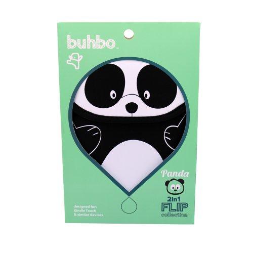 Buhbo Universal Reversible Neoprene Sleeve Cover for Kindles and eReaders, Black Panda by Buhbo (Image #1)