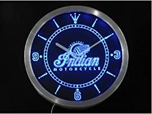 indian motorcycle services logo neon sign led