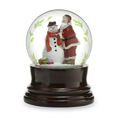 THE SAN FRANCISCO MUSIC BOX COMPANY Musical Santa W/Snowman