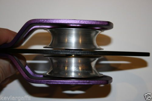 Twin sheave block and tackle 7500Lb pulley system 100 ft 1/2 Double Braid Rope by toonets (Image #4)