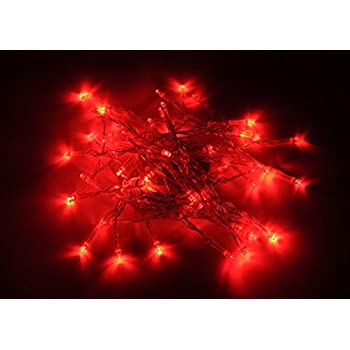 karlling battery operated red 40 led fairy light string wedding party xmas christmas decorationsred
