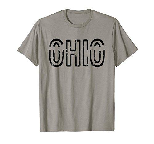 Ohio T-Shirt Ohio Tee Shirt Black (Ohio State Letters Tee)