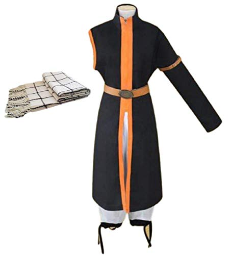 GK-O Fairy Tail Costume Natsu Dragneel 3rd Ver Cosplay Halloween (Asian Size XXL)]()