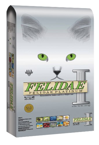 Felidae Dry Cat Food for Senior and Overweight Cats, Platinum Formula, 4 Pound Bag, My Pet Supplies