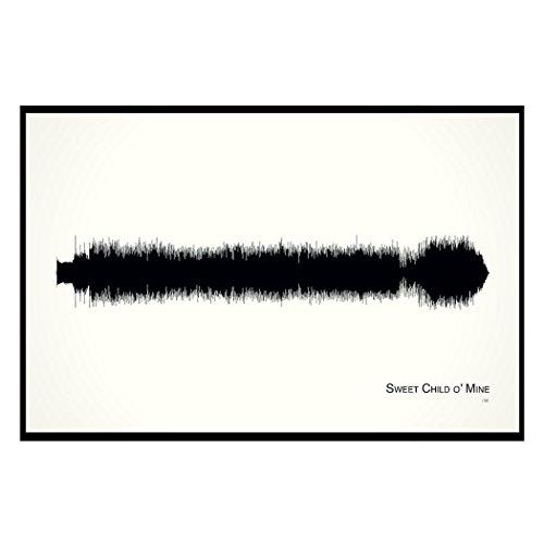 (Sweet Child o' Mine - 11x17 Framed Soundwave print)