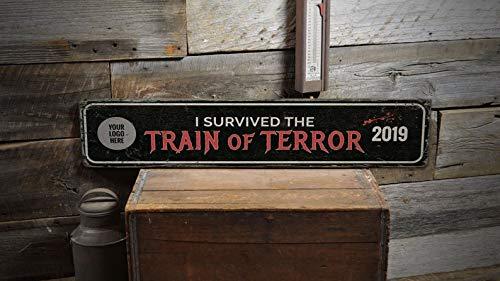 Derles Letrero de Madera con diseño de Tren de Terror ...