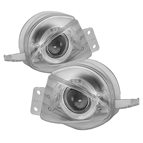 Xtune 2006-2008 E90 3-Series 4dr Halo Clear Projector Fog Lights w/Switch Complet Set 2007 Pair Left+Right 3 Series Projector Fog Lights