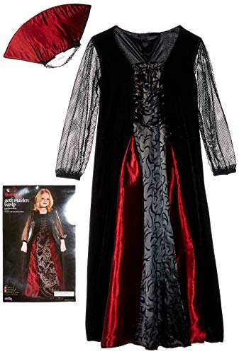 Fun World Girls Gothic Maiden Vamp Costume Size